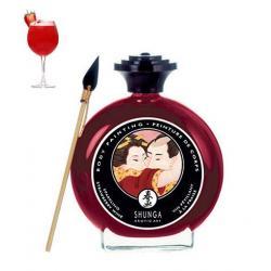 Malování na tělo Champagne a Strawberry Bodypaint