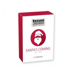 Kondomy Santa's Coming pack of 3