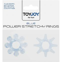 Transparetní modré kroužky POWER STRETCHY RINGS BLUE 2PCS