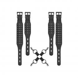 Pouta Ouch! Skulls and Bones - Hogtie with Skulls - Black